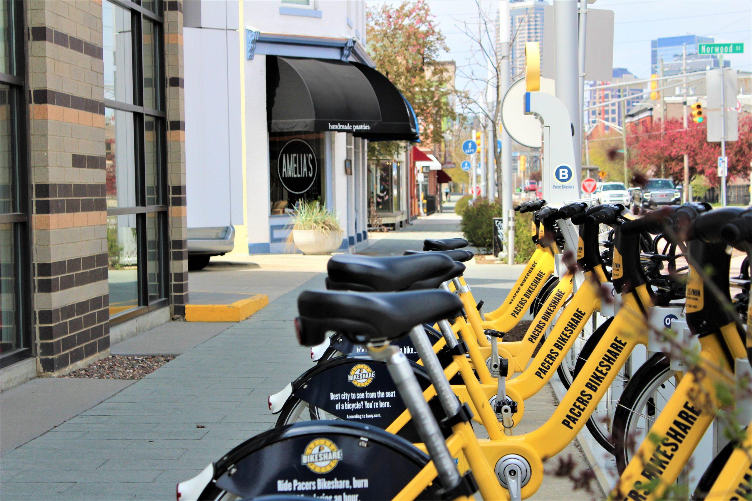 Fletcher Place Neighborhood Bike Share and Amelias