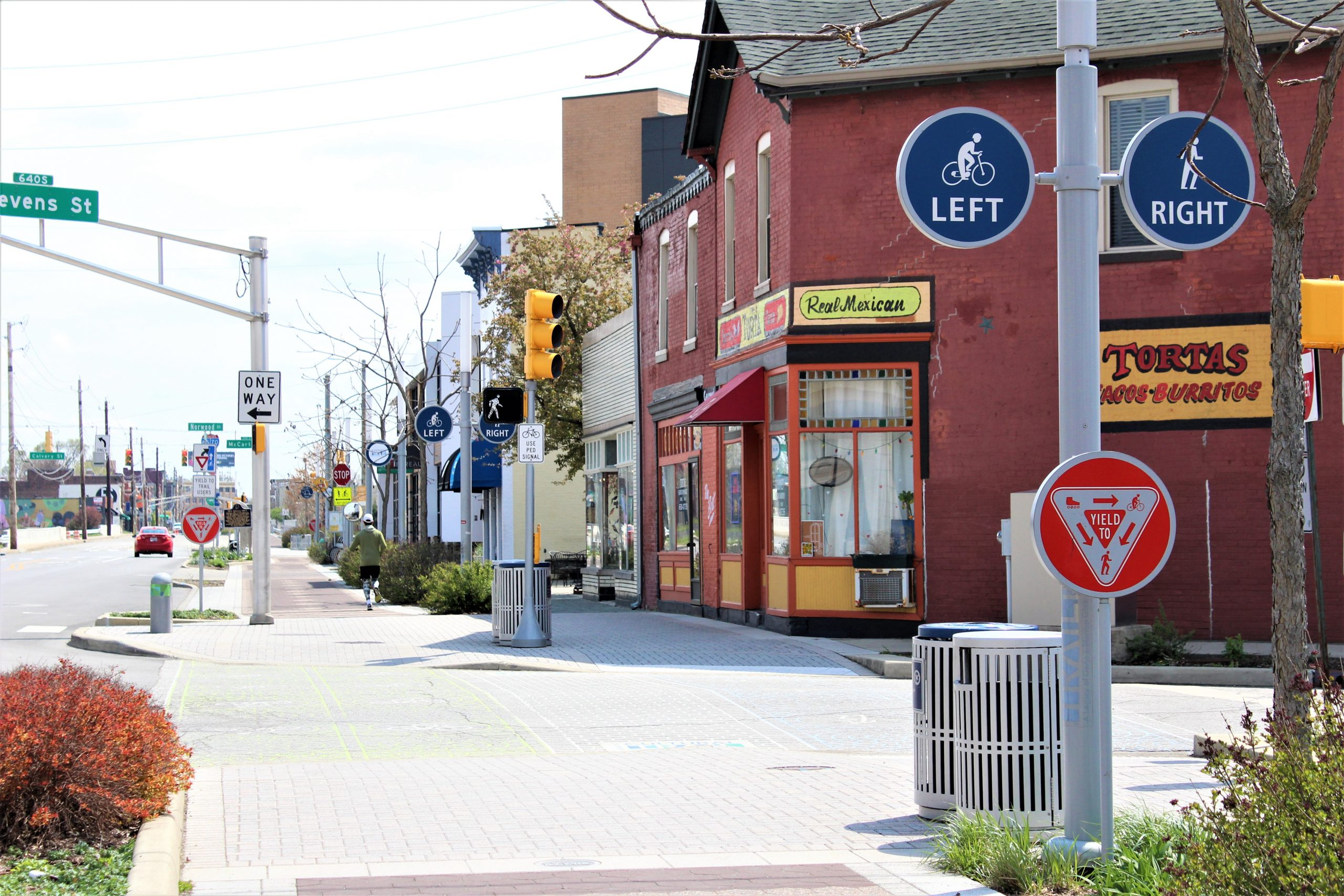 Fletcher Place Neighborhood Cultural trail, Tortas and Calvin Fletchers Coffee