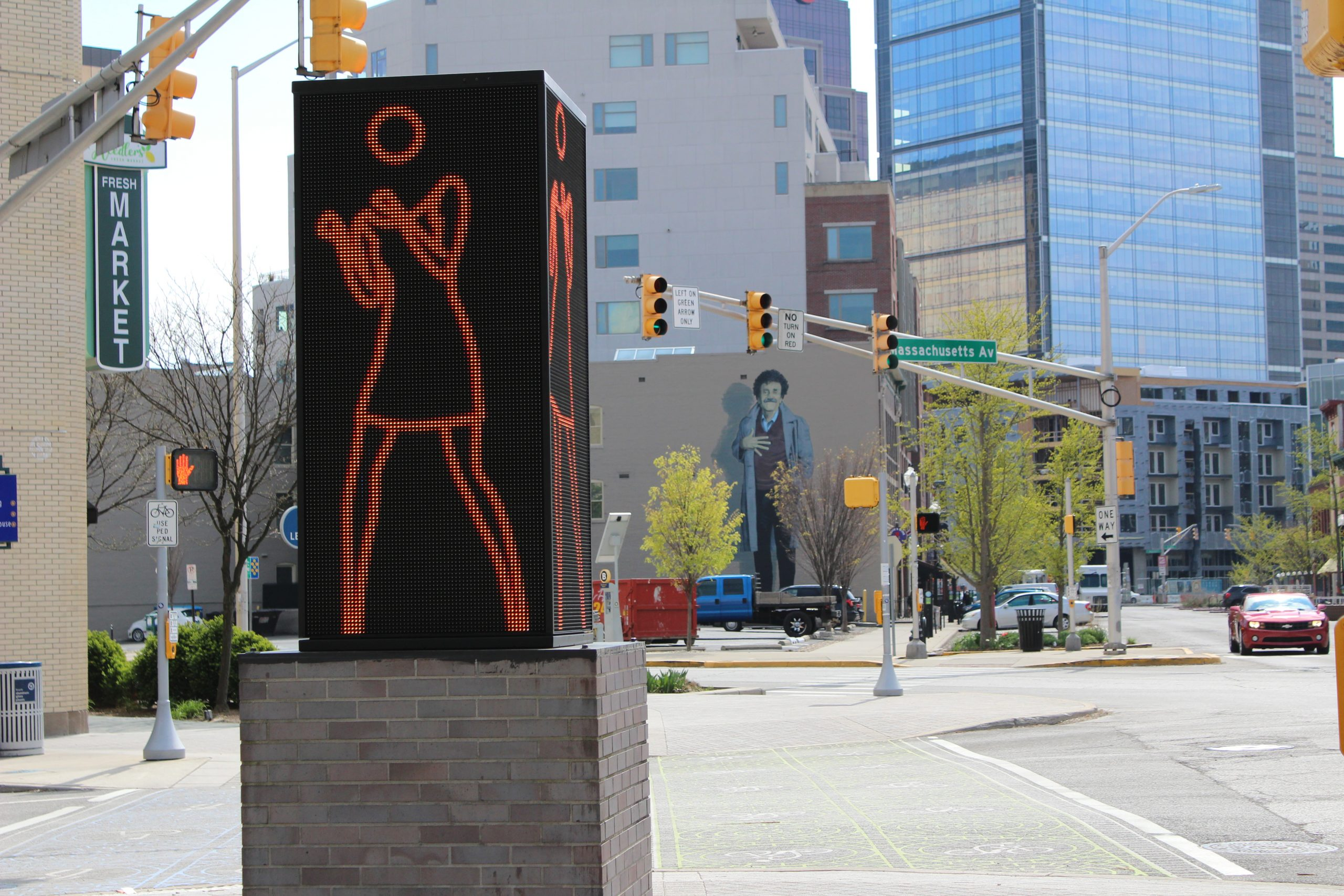 Mass Ave Dancing girl and Kurt Vonnegut