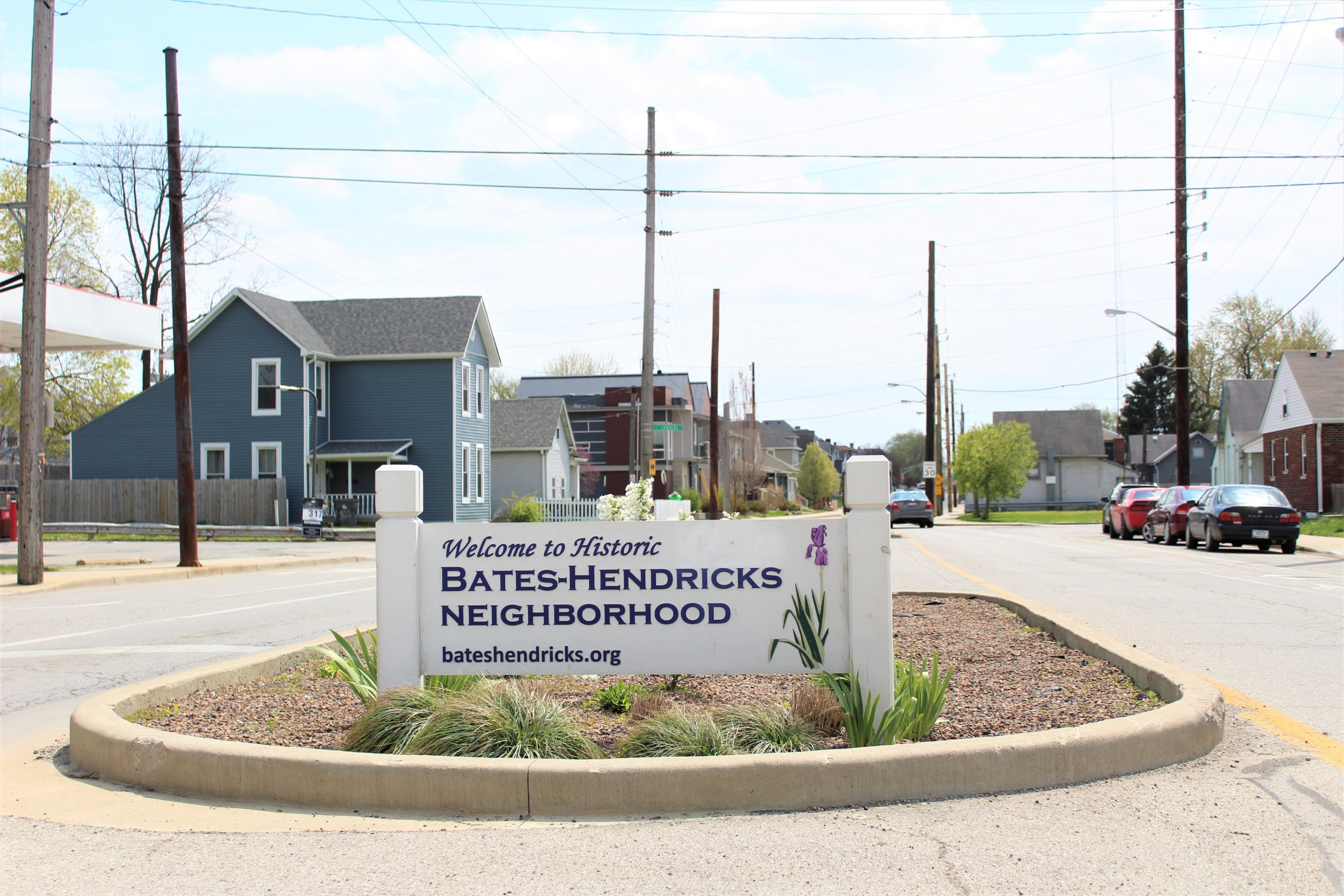 Bates-Hendricks entryway sign